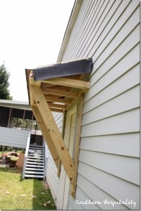House Renovations: Week 10, Building a Door Roof {or How ...