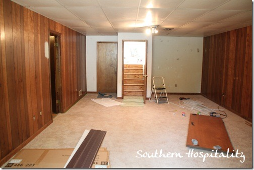 House Renovation Week 12 Paint That Paneling People Southern