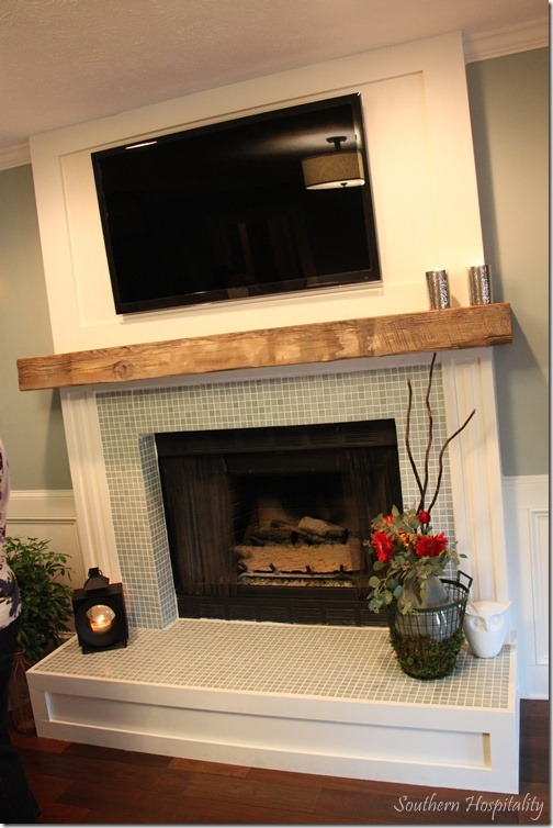 Red Brick Fireplace Makeover Feature Friday: The Lettered Cottage Makeover House