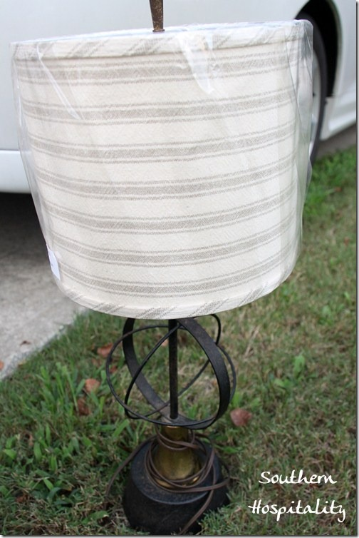 Restore lamp Ballards lampshade
