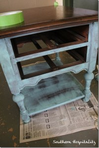 Thriftstore table painted with Annie Sloan chalk paint