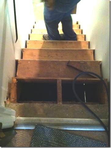 removing top step