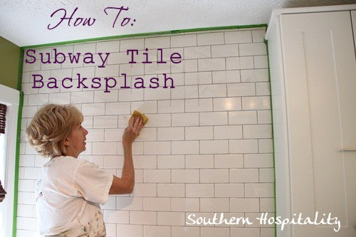 how to install subway tile backsplash & how to install a subway tile backsplash