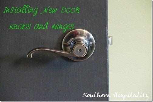 New Lever Antique Brass Doorknobs