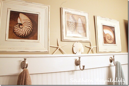 beadboard and artwork