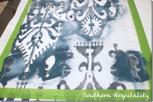 closeup stencil