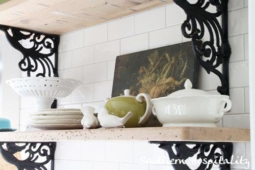 Ikea Kitchen Renovation shelves closeup