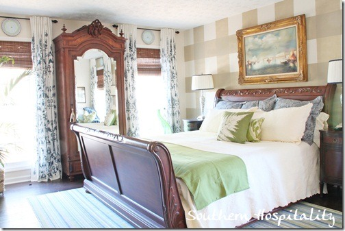 sleigh bed and armoire