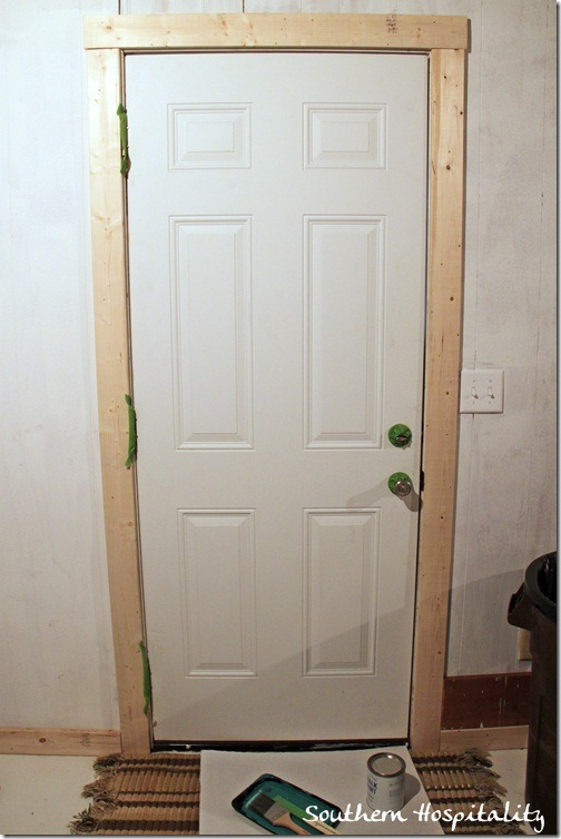 Painting a door Green