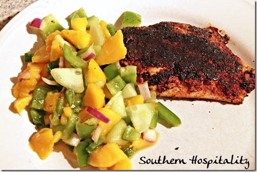 Blackened fish with mango salsa southern hospitality for How to make blackened fish