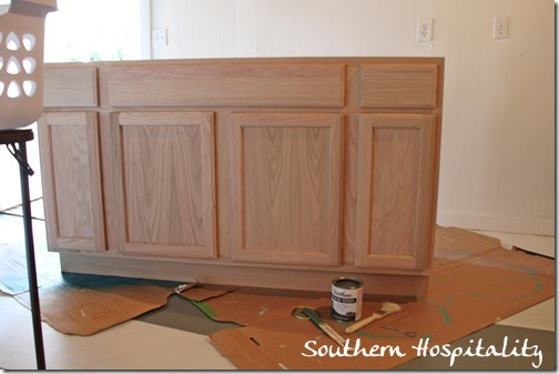 Lowes unfinished oak cabinet