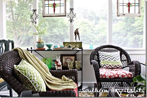 wicker seating