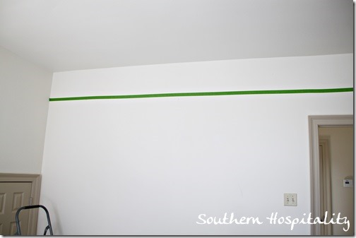 frogtape on wall