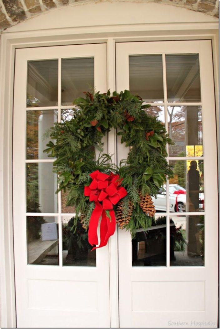 doors wreath