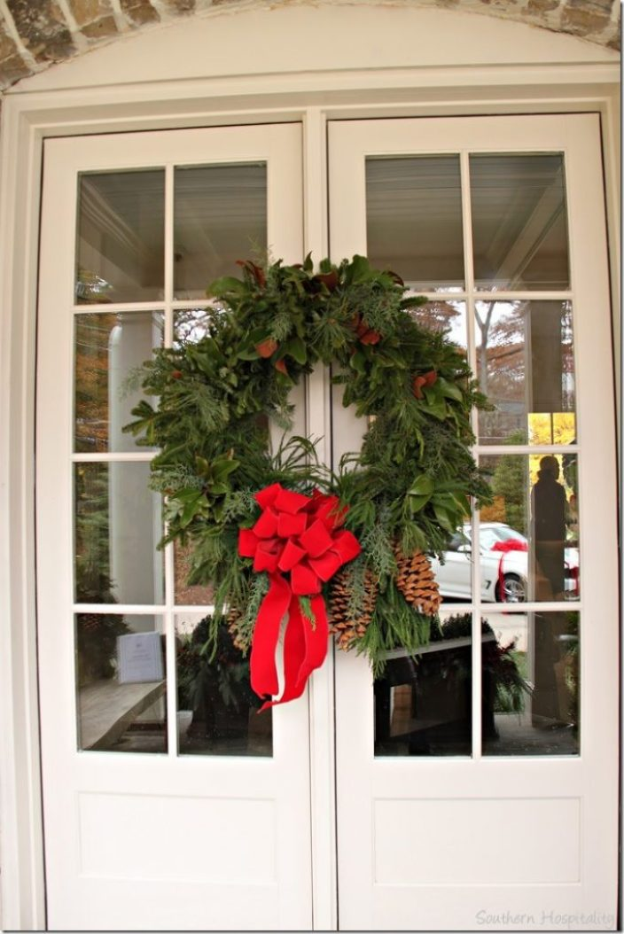 doors wreath