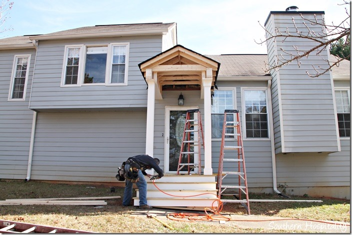 front of house new porch built