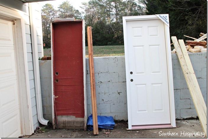 old garage door out