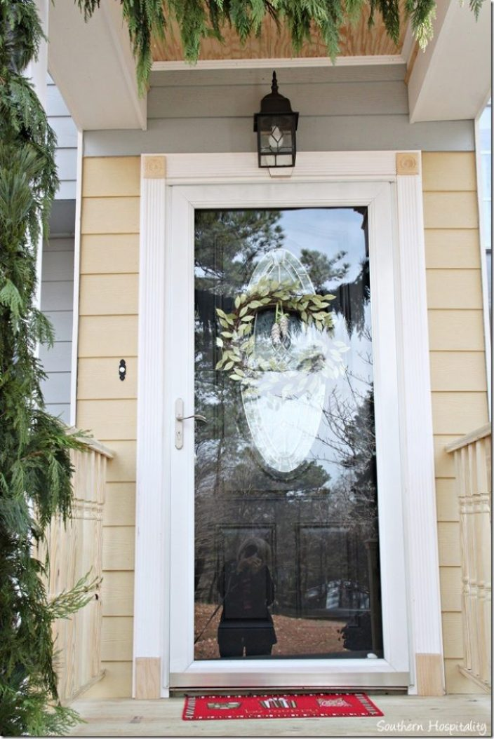 trimmed out front door