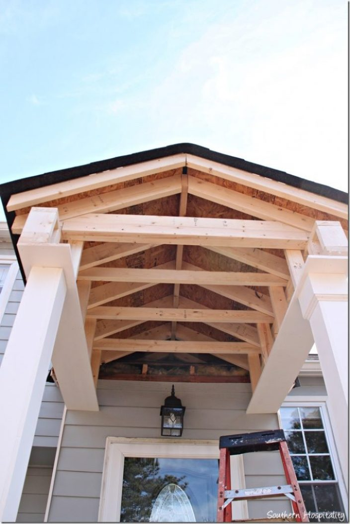 under roof new porch