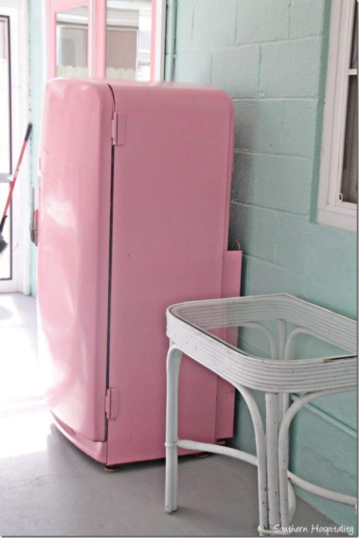 breeze inn pink fridge