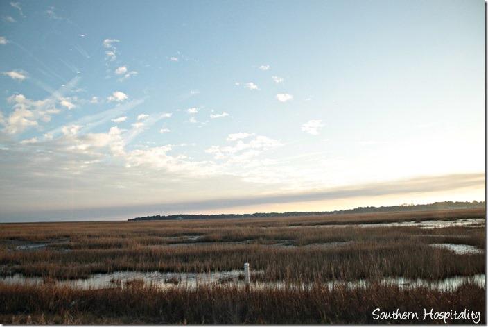 sunset over tybee marsh
