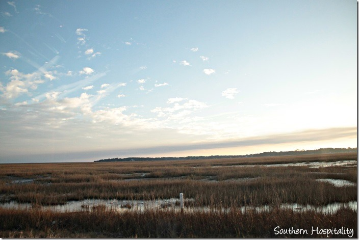 sunset over tybee marsh