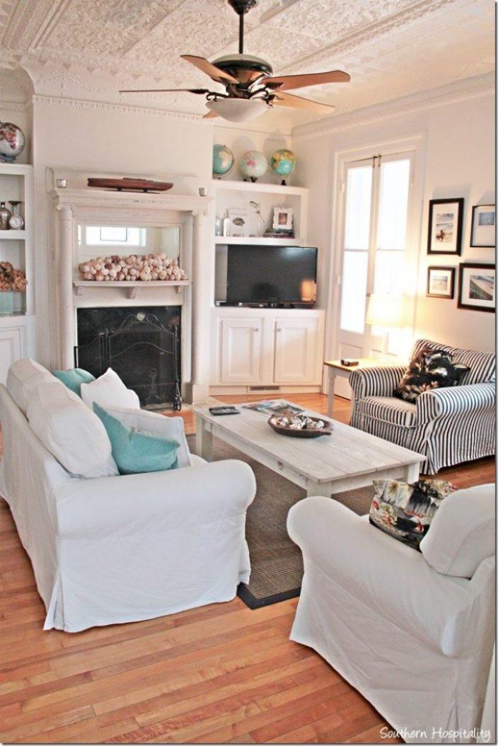 white caps living room