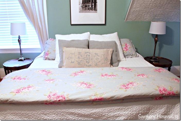 white caps master bed