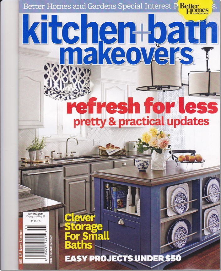BHG Magazine. Another Blogger Friend, Jenna From NY Has A Kitchen She  Designed Featured On The Cover, Along With The Whole Story In The Magazine  Too, ...