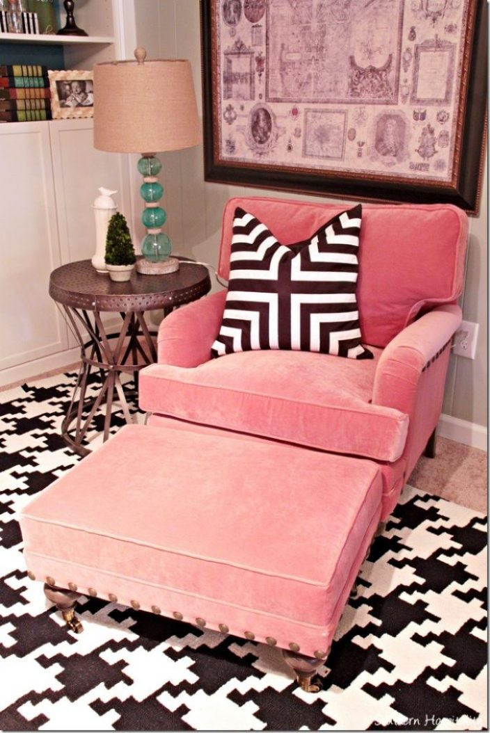 Adding a Pop of Coral in the Den - Southern Hospitality