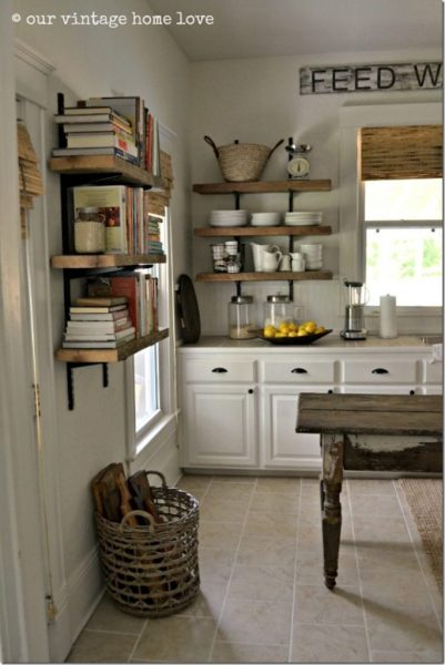 open rustic kitchen cabinets Feature Friday: Our Vintage Home Love - Southern Hospitality