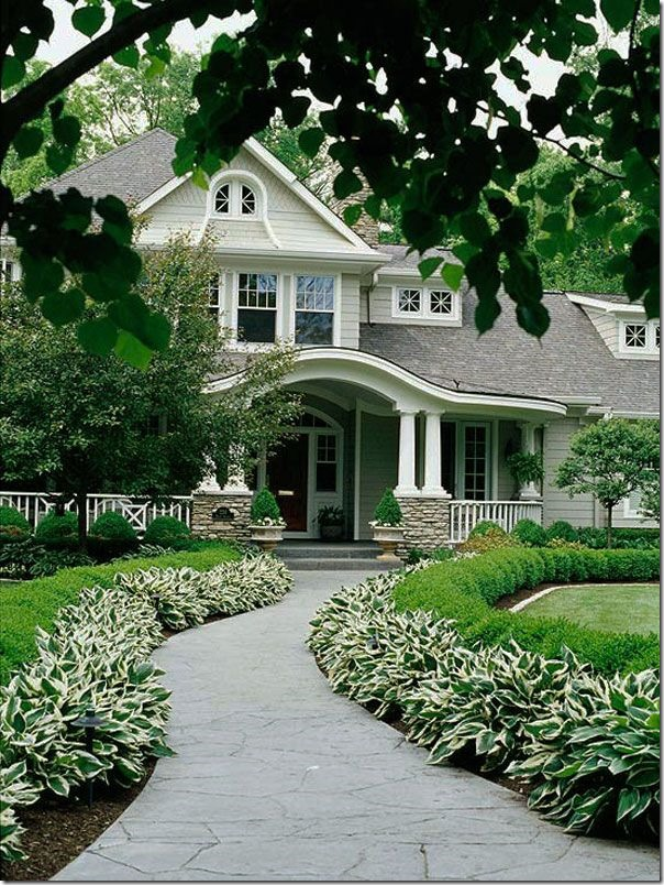 front porch and landscaping