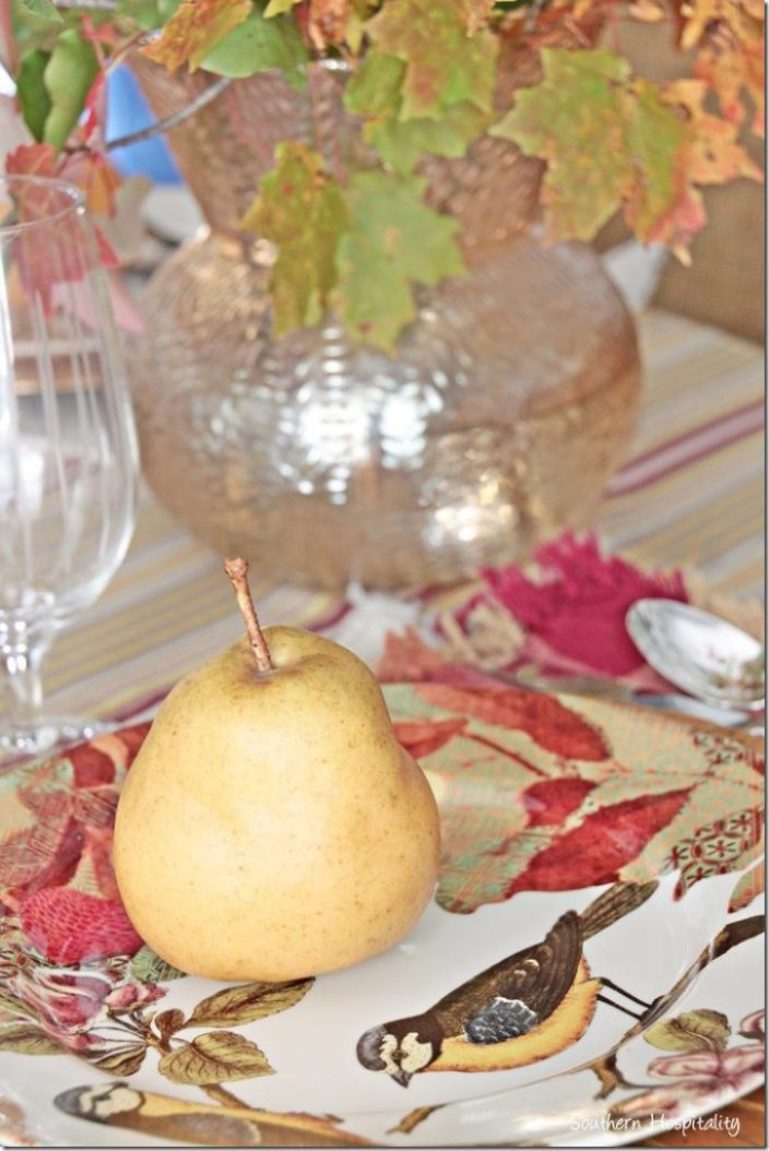 pear and plate