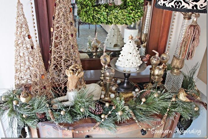 christmas foyer table