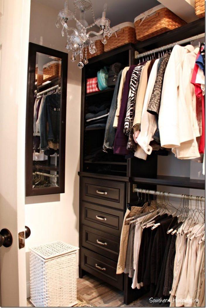 jewelry organizer inside closet
