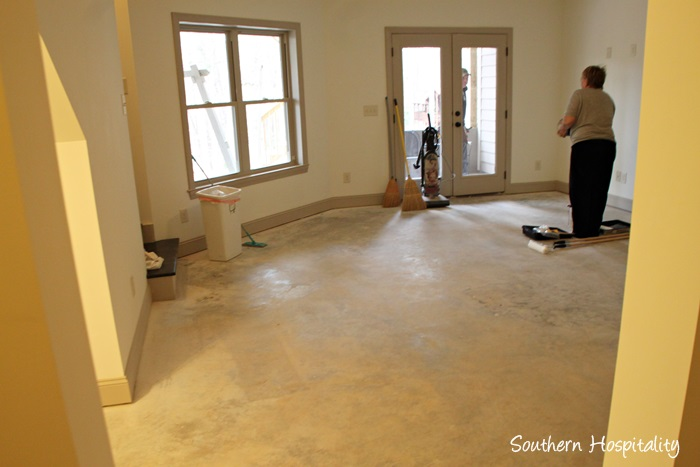 How to paint a concrete floor southern hospitality concrete floor before tyukafo