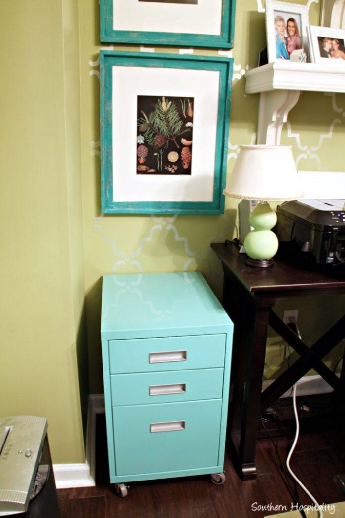 aqua file cabinet