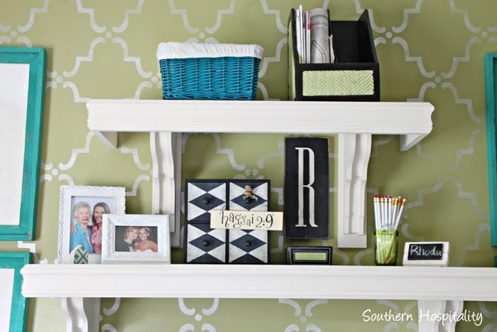 office white shelves