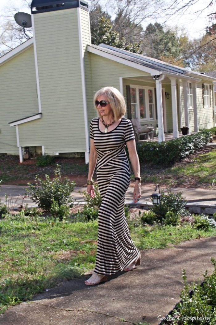 maxi dress walking