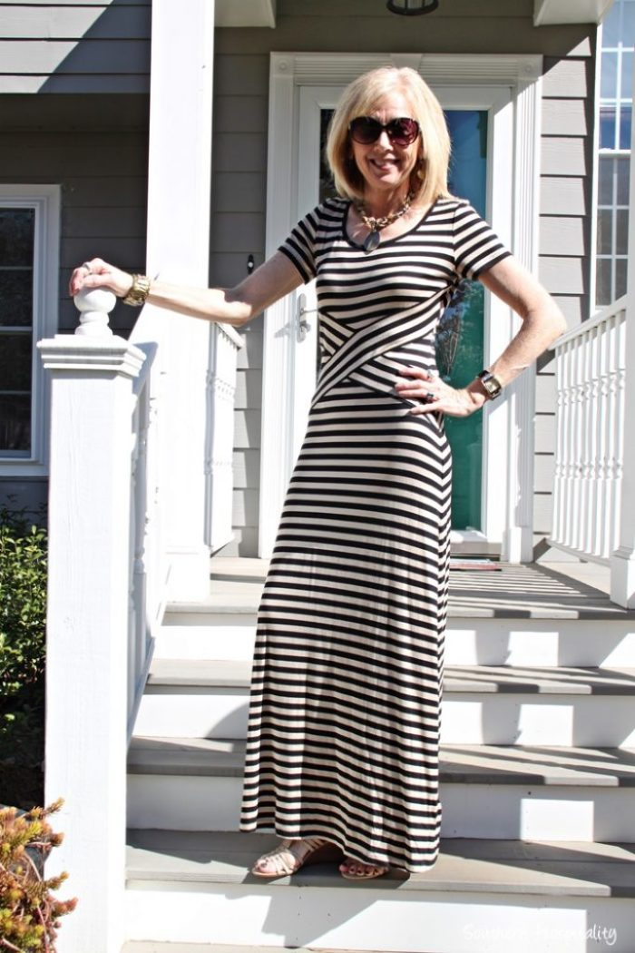 aa640a18b23 maxi dress. I found this pretty striped maxi dress recently at Ross ...