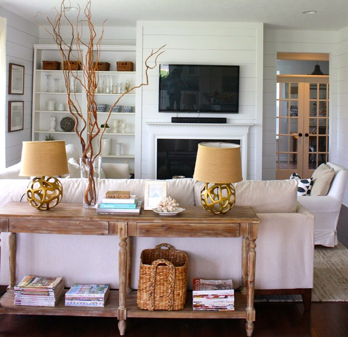 Image Result For How To Decorate A Sofa Table Behind A Couch
