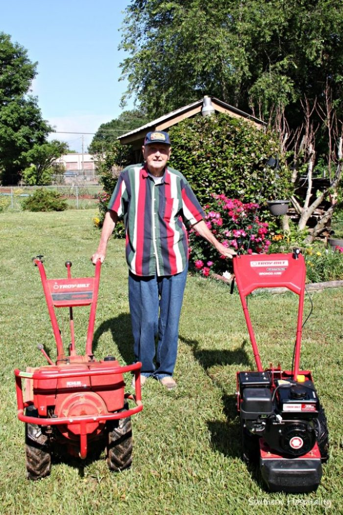 old and new troybilt tillers