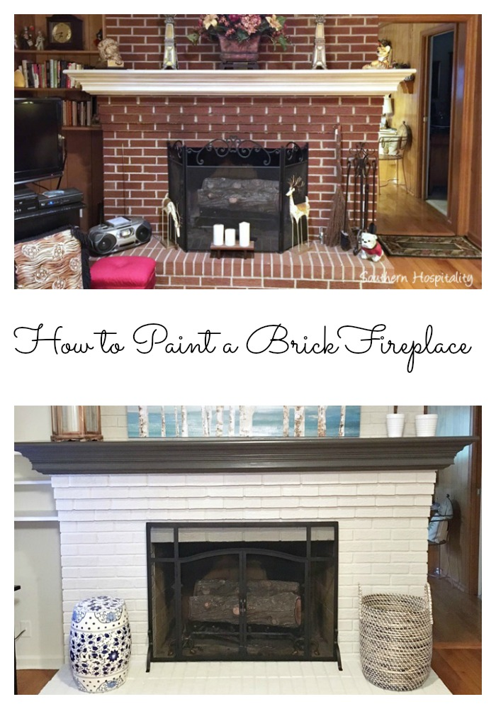 Update Red Brick Fireplace