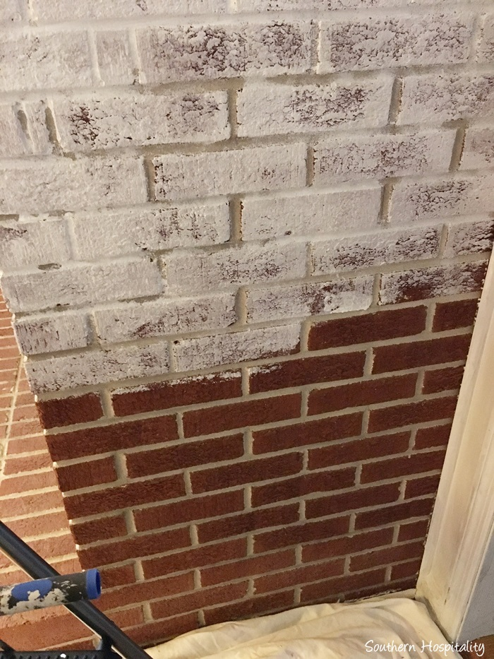 White Painted Fireplace Brick How To Paint A Brick Fireplace