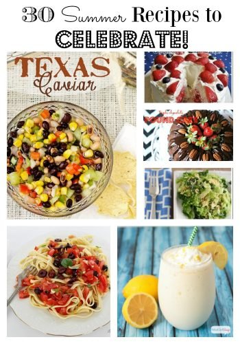 Summer recipes Collage