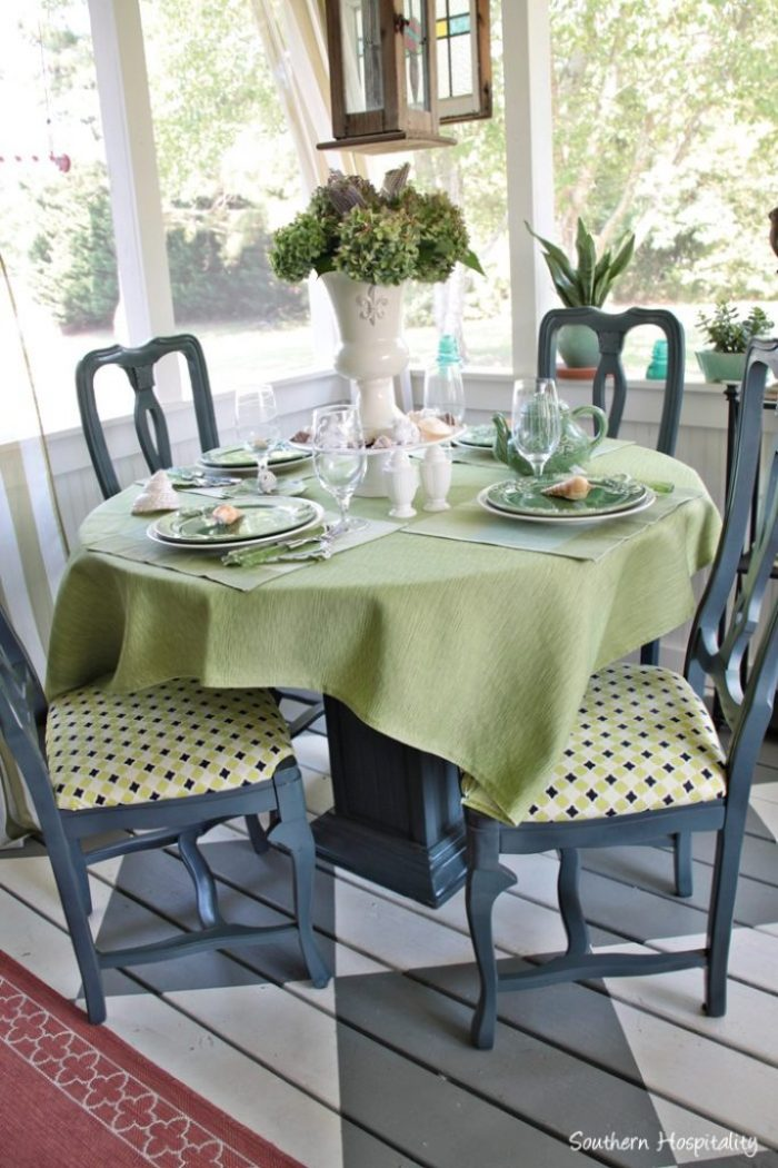 summer table green010