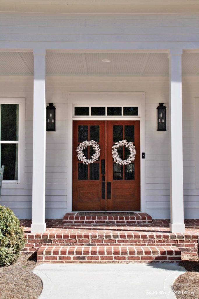 farmhouse double glass doors