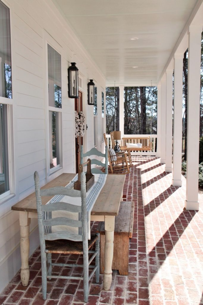 farmhouse brick porch