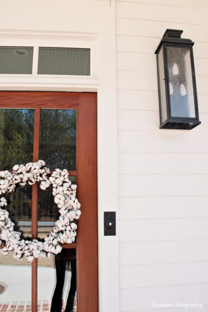 farmhouse cotton wreath
