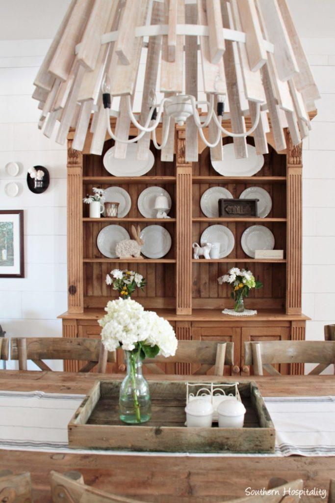 farmhouse pine chandelier